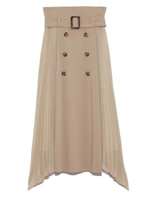 【まだ結婚できない男/2話】吉田羊/着用衣装(スカート):プリーツコンビスカート