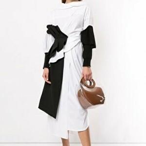 【まだ結婚できない男/5話】吉田羊/着用衣装(ワンピース):asymmetrical wrap dress