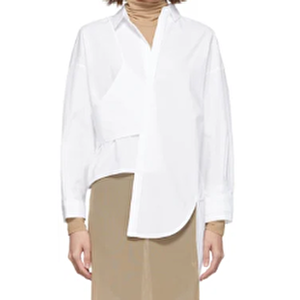 【まだ結婚できない男/1話】吉田羊/着用衣装(シャツ):ホワイト Somelos シャツ
