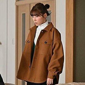 【ドラマ・10の秘密/1話】仲里依紗/着用衣装(ジャケット)の画像